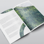 Offset printed corporate brochure